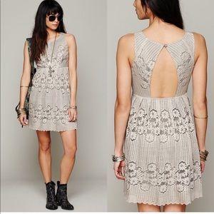 Free People crochet lace dress